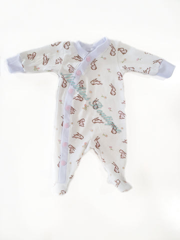 Footed Coveralls - Bunnies Size: 0000/Prem