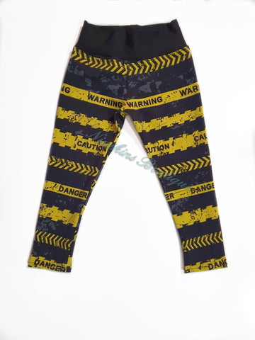 Leggings - Warning Tape Size: 4