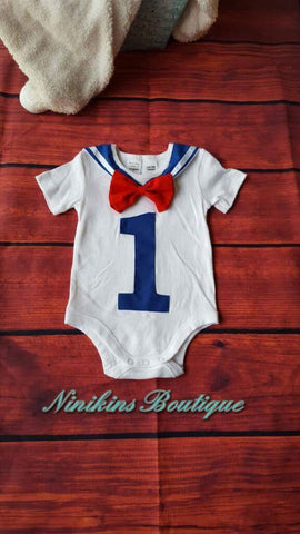 1st Birthday Onesie- Sailor Size: 1