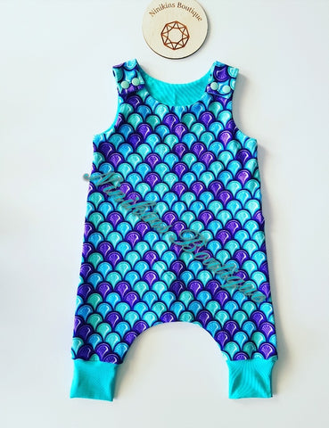Harem Romper-Mermaid Scales Size: 000