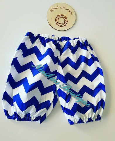 Shorts - Dark Blue Chevron Size: 0