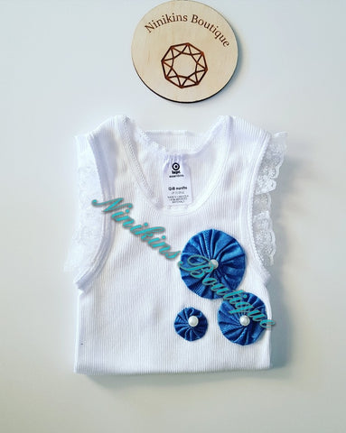 Decorative Singlet Size: 12-18mths