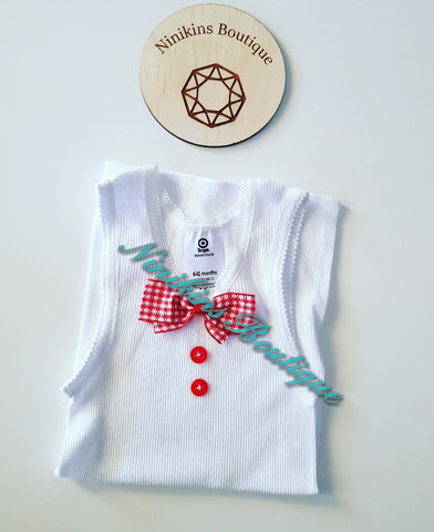 Decorative Singlet Size: 6-12mths