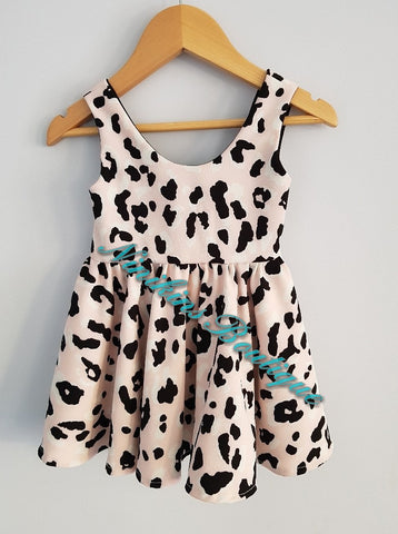Circle Dress - Pink Leopard Size: 1-2