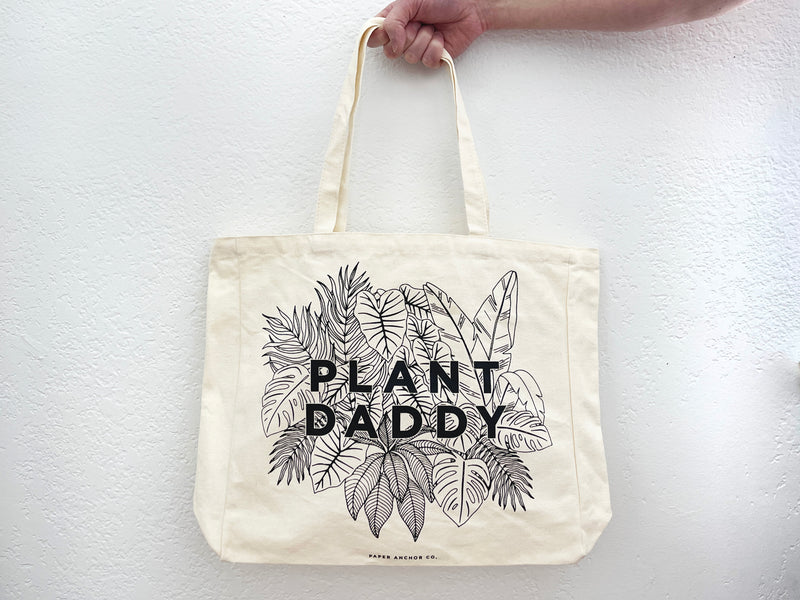 Plant Daddy Canvas Tote Bag