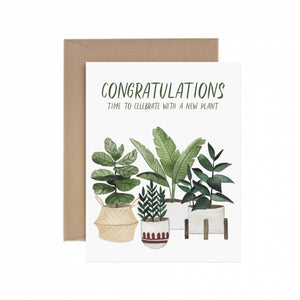 Congratulations New Plant Greeting Card