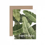 Tropical Leaves Happy Birthday Greeting Card