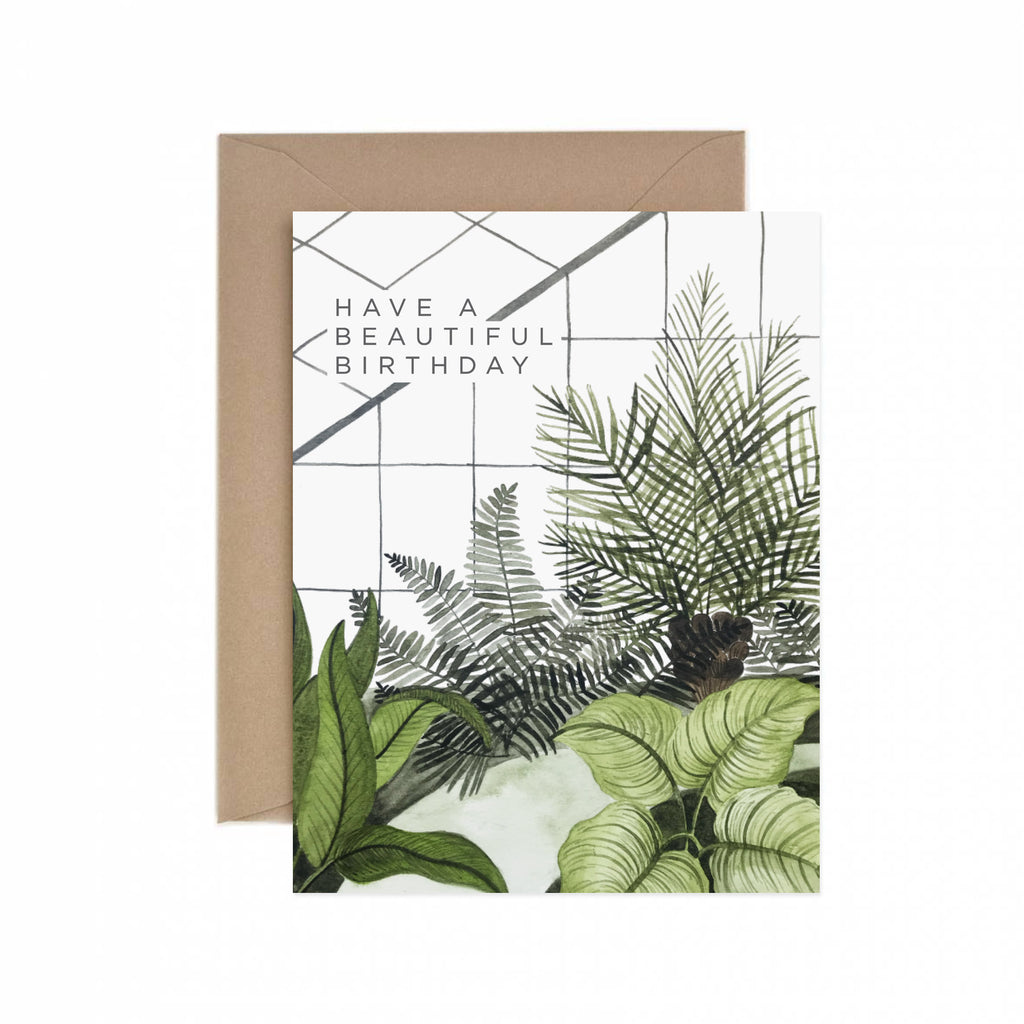 Beautiful Birthday Greenhouse Greeting Card