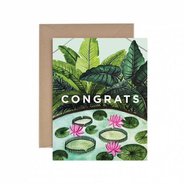 Congrats Conservatory Greeting Card
