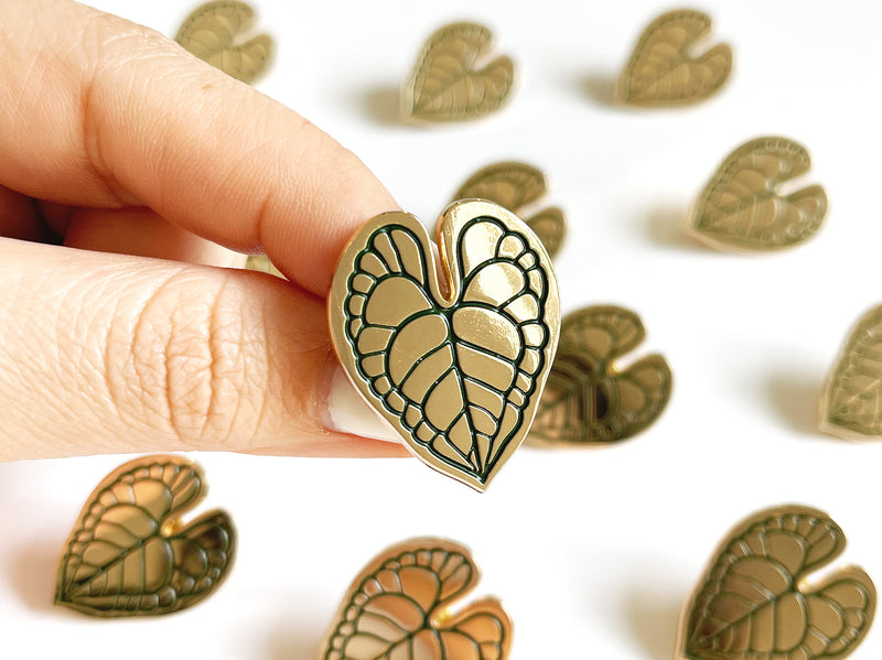 Anthurium Leaf Lapel Pin