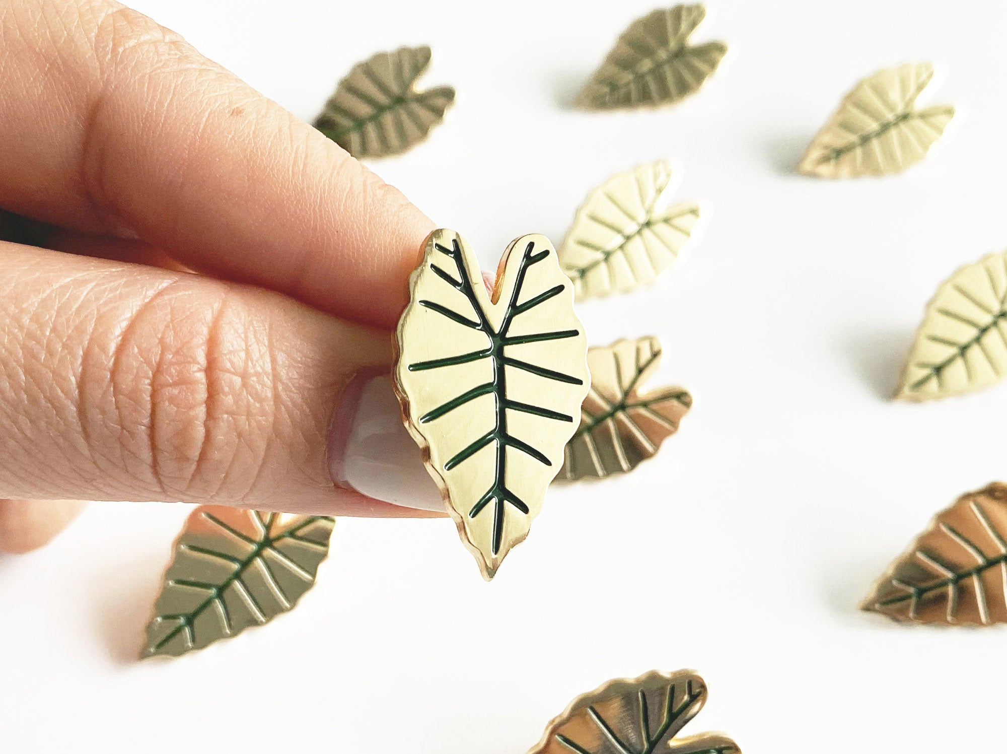 Alocasia Leaf Lapel Pin