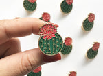 Julia Blooming Cactus Enamel Lapel Pin