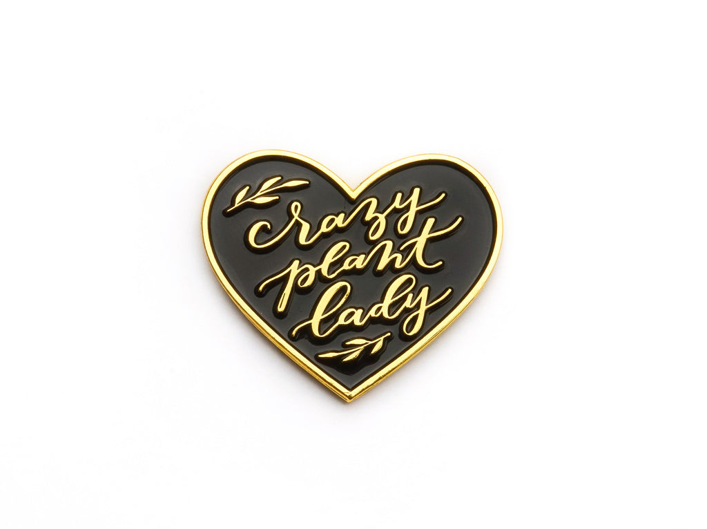 Crazy Plant Lady Enamel Lapel Pin