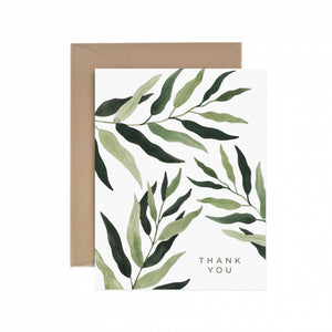 Eucalyptus Thank You Greeting Card