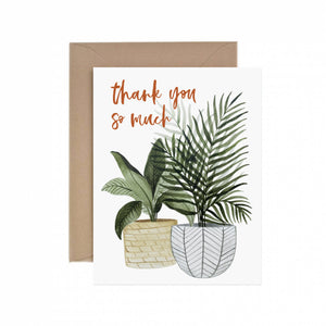 Thank You Potted Plant Greeting Card