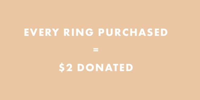 Every ring purchased equals $2 donated to save our corals