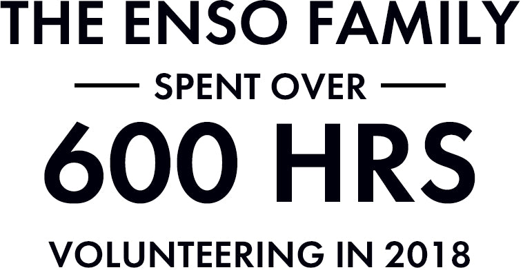 The Enso Family spent over 600 hours volunteering in 2018