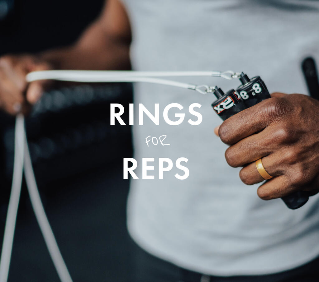Rings for Reps | Silicone rings for those that hit the weights