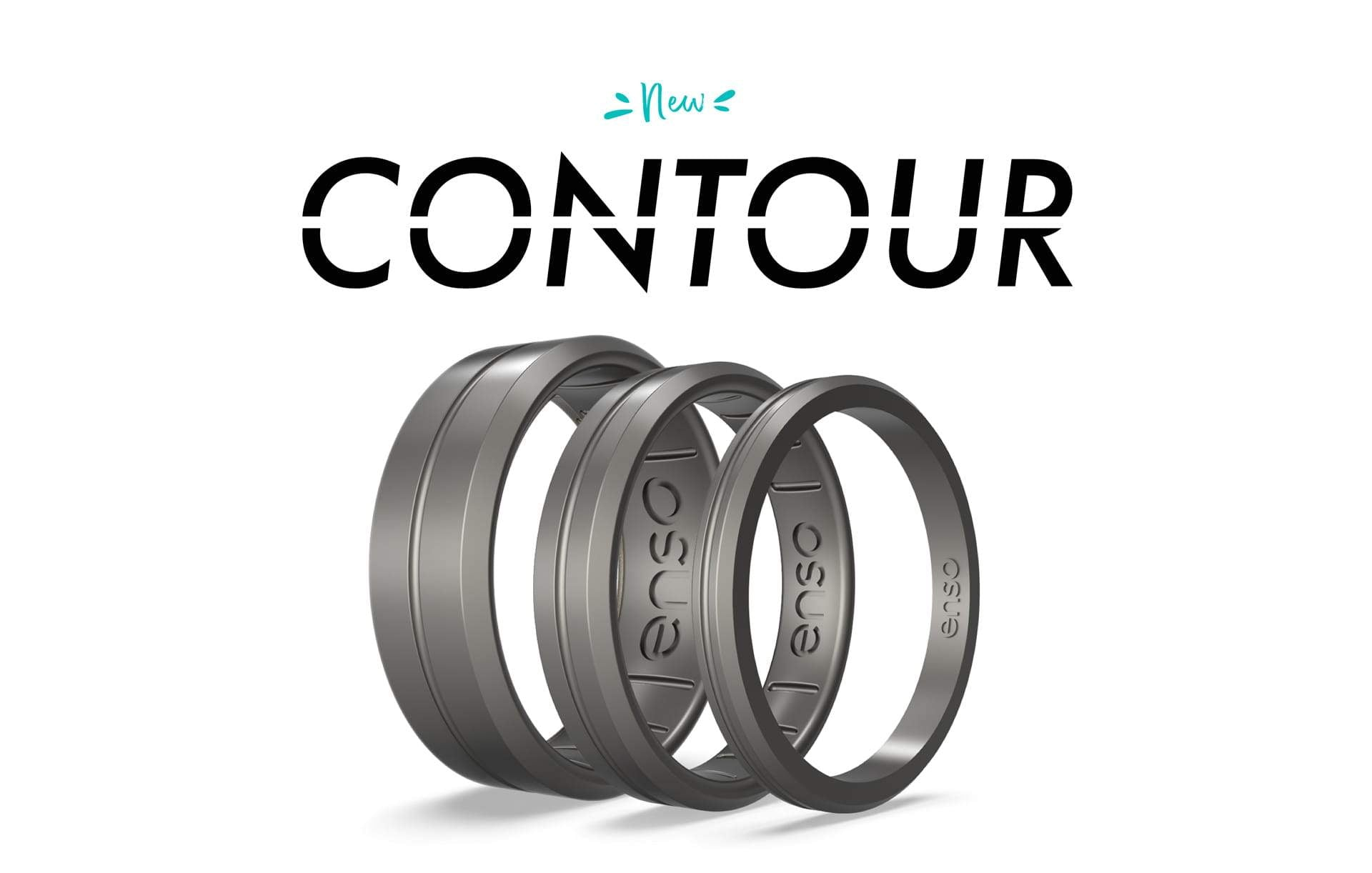 Introducing the all new Contour Silicone Ring - the ultimate in flexible jewelry
