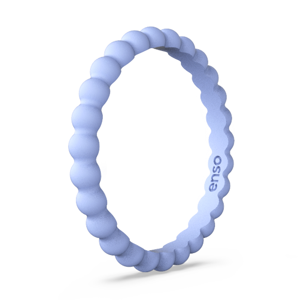 Beaded Stackable Silicone Ring Ocean Breeze
