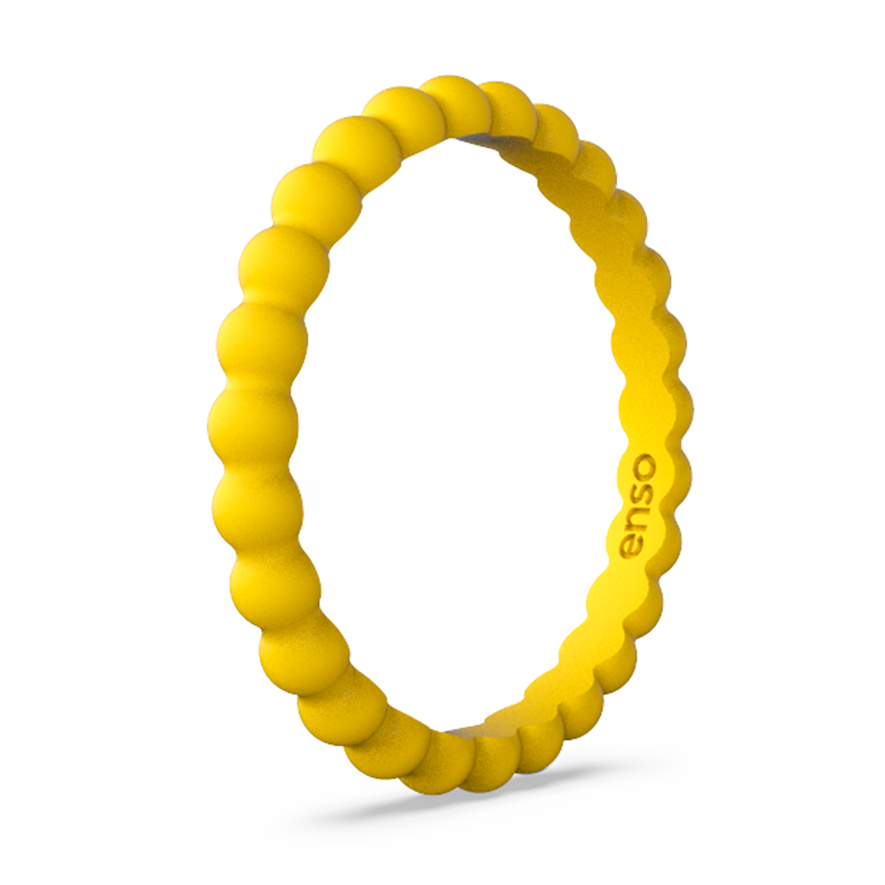 Beaded Stackable Silicone Ring Sunset