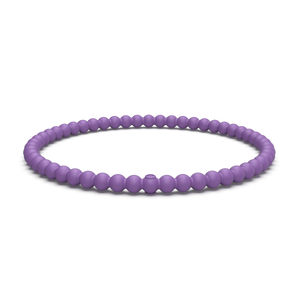 Beaded Stackable Silicone Bracelet Orchid