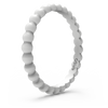 Beaded Stackable Silicone Ring Misty Grey