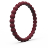 Beaded Stackable Silicone Ring Oxblood