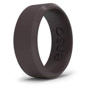 Bevel Silicone Ring Coffee