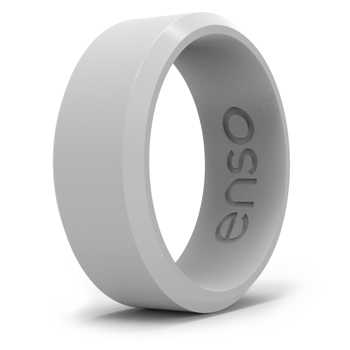 Bevel Silicone Ring Misty Grey
