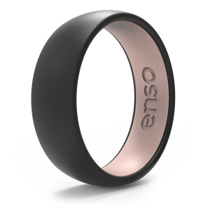 Dual Tone Silicone Ring Obsidian / Pink Sand