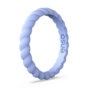 Braided Stackable Silicone Ring Ocean Breeze
