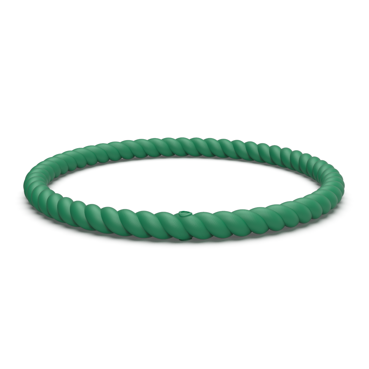 Braided Stackable Silicone Bracelet Daylily