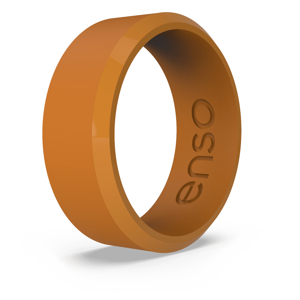 Bevel Silicone Ring Burnt Orange