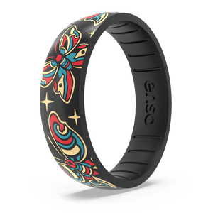 Tim Odland Silicone Ring - Butterfly Black