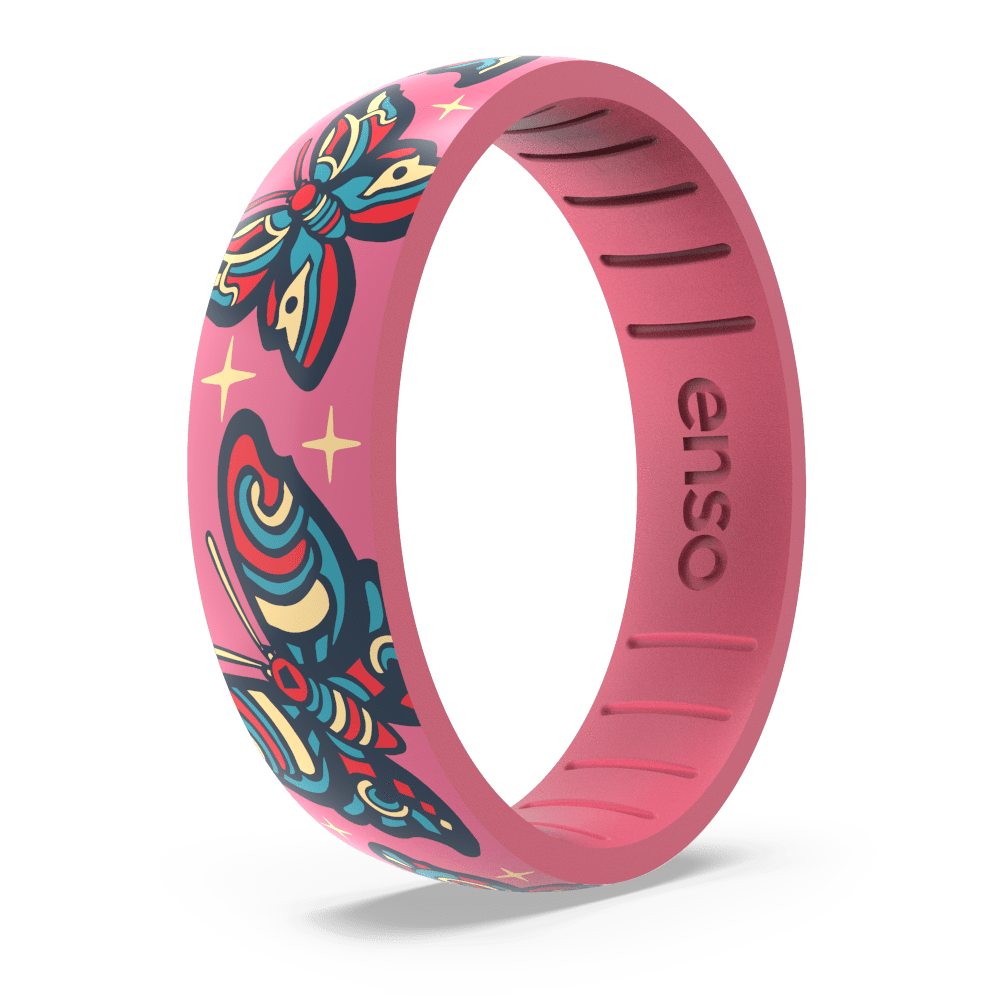 Tim Odland Silicone Ring - Butterfly Pink