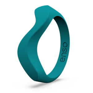 Wave Accent Silicone Ring Caribbean