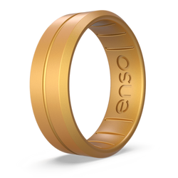 Classic Contour Silicone Ring Gold