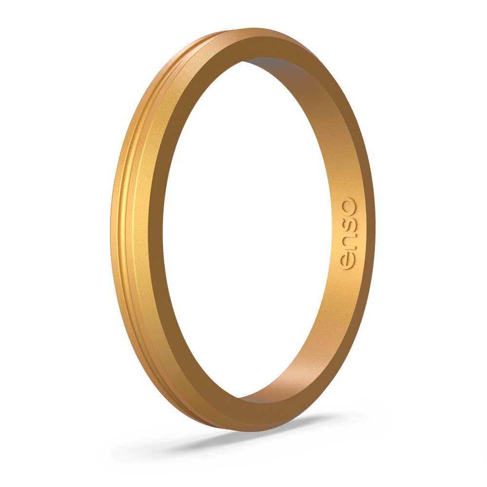 Halo Contour Silicone Ring Gold