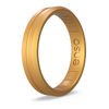 Thin Contour Silicone Ring Gold