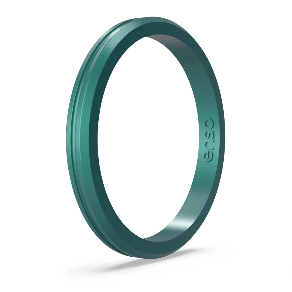 Halo Contour Silicone Ring Peacock Quartz