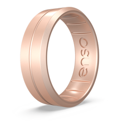 Classic Contour Silicone Ring Rose Gold