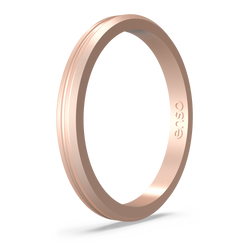 Halo Contour Silicone Ring Rose Gold