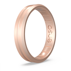 Thin Contour Silicone Ring Rose Gold
