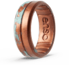 Handcrafted Silicone Ring Copper Patina