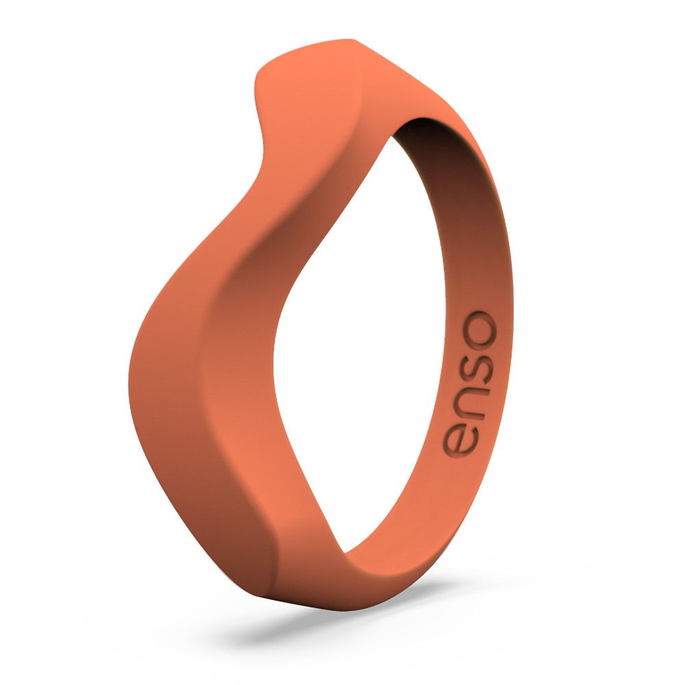 Wave Accent Silicone Ring Coral