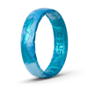 Handcrafted Thin Silicone Ring - Deep Sea