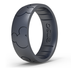 Disney Silicone Ring - Mickey All Around Ears - Black Pearl