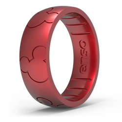 Disney Silicone Ring - Mickey All Around Ears - Ruby