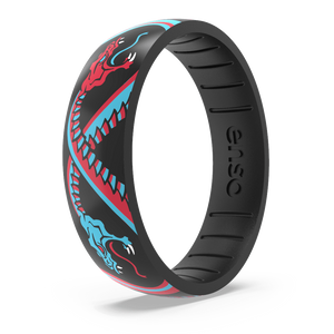 Tim Odland Silicone Ring - Snake Fight